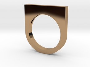 Fanclub Ring II in Polished Brass