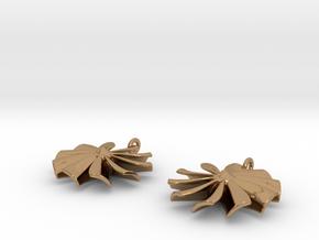 Turbine earrings in Polished Brass