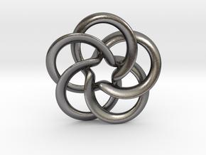 Toroid flower starry in Polished Nickel Steel: Medium