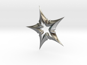 Star In A Star Distortion in Polished Silver