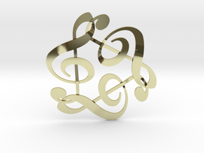 Triple G Clef in 18k Gold