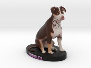Custom Dog Figurine - Bubbles in Full Color Sandstone