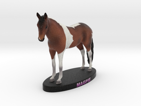 Custom Horse Figurine - Magpie in Full Color Sandstone