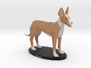 Custom Dog Figurine - DRACO in Full Color Sandstone