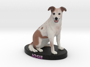 Custom Dog Figurine - Josie in Full Color Sandstone
