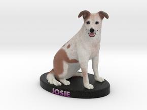 Custom Dog Figurine - Josie in Full Color Sandstone