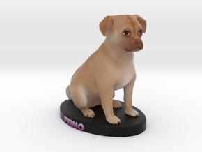 Custom Dog Figurine - Primo in Full Color Sandstone