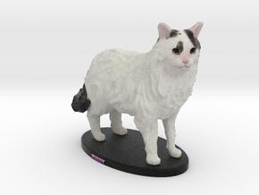 Custom Cat Figurine - Puddy in Full Color Sandstone