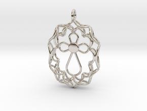 Pendant With Cross in Platinum