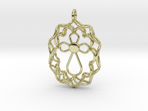 Pendant With Cross in 18k Gold