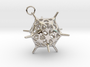 Adenovirus Pendant in Rhodium Plated Brass