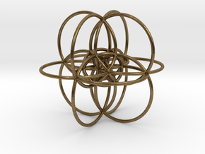 24-Cell Stereographic Projection in Natural Bronze