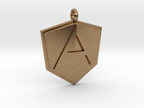 AngularJS Pendant in Natural Brass