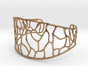 Bracelet abstract #3 in Polished Brass