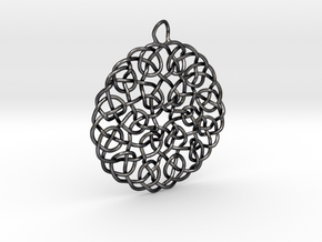 Turks Head Knot Pendant in Polished and Bronzed Black Steel