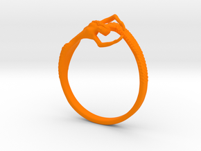 Mermaid Bracelet  in Orange Processed Versatile Plastic