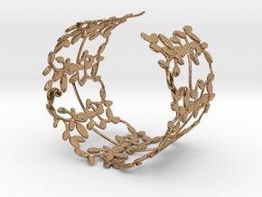 Leaves Bracelet in Polished Brass