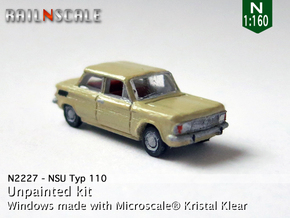 NSU Typ 110 (N 1:160) in Smooth Fine Detail Plastic
