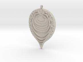 Fractal Pendant in Natural Sandstone