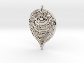 Fractal Pendant in Rhodium Plated Brass