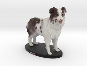 Custom Dog Figurine - Astro in Full Color Sandstone