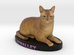 Custom Cat Figurine - Omalley in Full Color Sandstone