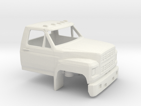 1/64 1980-86 Ford F 600 Cab only in White Natural Versatile Plastic