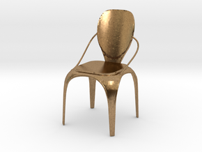 Spring chair in Natural Brass