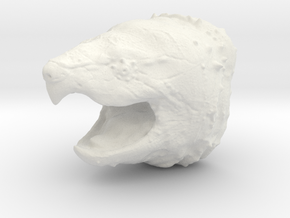 Alligator Snapping Turtle Head  in White Natural Versatile Plastic