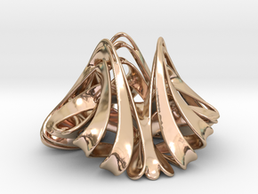 Trochotrisk (2 in) in 14k Rose Gold Plated Brass