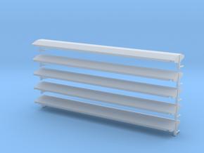 Dach für Perlkieswagen der ÖBB in 1:160 (5stk.) in Smooth Fine Detail Plastic