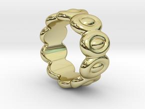 Elliptic Ring 29 - Italian Size 29 in 18k Gold Plated Brass