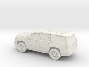 1/87 2015 Chevrolet Tahoe in White Natural Versatile Plastic
