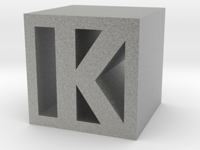 Square K Cube in Metallic Plastic