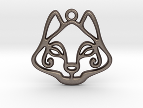 The Cat Pendant in Polished Bronzed Silver Steel