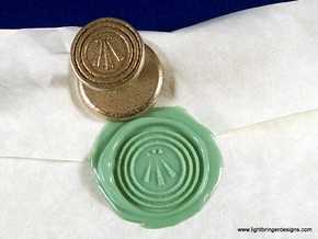 Awen Wax Seal in Polished Bronzed Silver Steel
