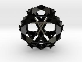 Asterisk Ball - 4.8 cm in Matte Black Steel