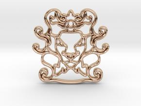 The Leon Pendant in 14k Rose Gold
