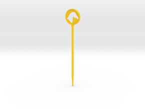 Branded Hair Stick (Single Prong) in Yellow Processed Versatile Plastic