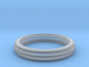 Ring Hilly Full in Smooth Fine Detail Plastic