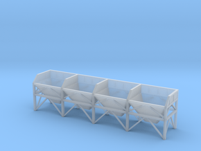 N Scale Aggregate Hopper S4 in Frosted Ultra Detail
