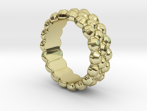 Chocolat Ring 21 - Italian Size 21 in 18k Gold Plated Brass
