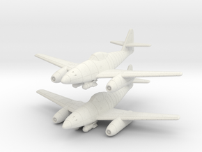 1/200 Messerschmitt Me-262A-2 (x2) in White Natural Versatile Plastic