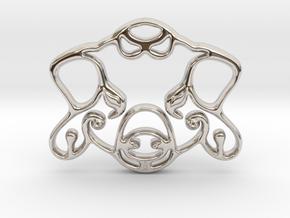 The Pig Pendant in Platinum