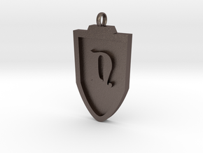 Medieval N Shield Pendant in Stainless Steel