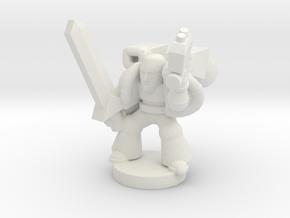 Spacemarine Captain-jumppack in White Natural Versatile Plastic