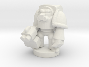 Spacemarine Terminator in White Natural Versatile Plastic