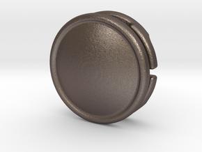 CM-BASICCHAMDOME1.25 in Polished Bronzed Silver Steel