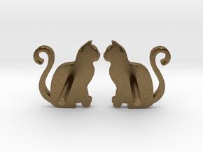 Cat Studs (Ver. 1) in Natural Bronze