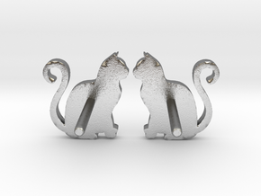 Cat Studs (Ver. 1) in Natural Silver